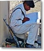Egytian Security Relaxes Before The Spring Metal Print