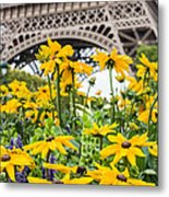 Eiffel Flower Metal Print