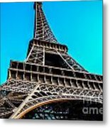 Eiffel In Spring Metal Print