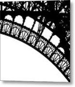 Eiffel Metal Crochet  Metal Print by Rita Haeussler