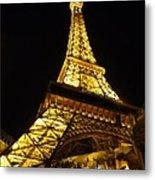 Eiffel Night Metal Print
