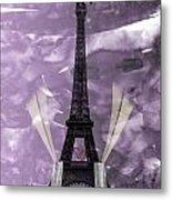 Eiffel Tower - Paris - Love Metal Print