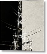 Eiffel Tower Abstract Bw Metal Print