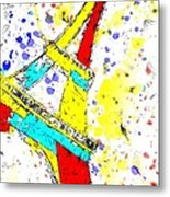 Eiffel Tower Abstract - Paris France Metal Print
