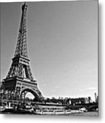 Eiffel Tower And The Seine Metal Print