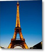Eiffel Tower At Dusk Metal Print