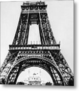 Eiffel Tower Construction Metal Print