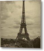 Eiffel Tower Metal Print by Debra and Dave Vanderlaan