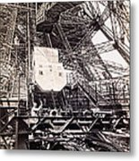 Eiffel Tower Elevator Shop C. 1888 Metal Print