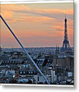 Eiffel Tower From Above Metal Print