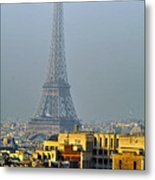 Eiffel Tower From Notre Dame Metal Print