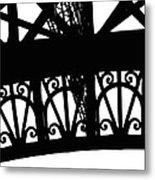 Eiffel Tower Girders Metal Print
