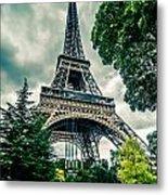 Eiffel Tower In Hdr Metal Print