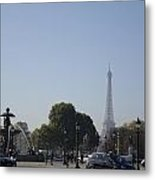 Eiffel Tower In The Distance Metal Print