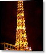 Eiffel Tower Las Vegas Nevada Metal Print