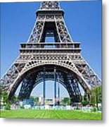 Eiffel Tower Lower Part Paris Metal Print