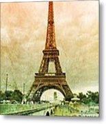 Eiffel Tower Mood Metal Print
