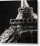 Eiffel Tower Paris France Night Lights Metal Print by Patricia Awapara
