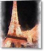 Eiffel Tower Paris Las Vegas Photo Art Metal Print