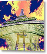 Eiffel Tower Psycho Version Metal Print