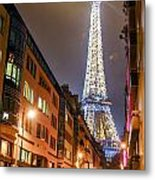 Eiffel Tower Three Metal Print