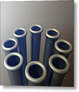 Eight Metallic Tubes Metal Print