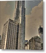 Eight Spruce Street By Gehry Metal Print