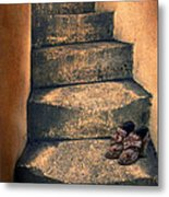 Eighteenth Century Shoes On Old Stairway Metal Print