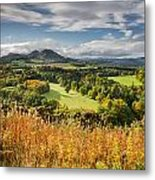 Eildon Hills In Autumn Metal Print