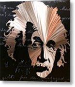 Einstein Metal Print by Chris Mackie