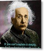 Einstein Explanation Metal Print