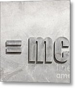 Einstein Sculpture Emc2 Canberra Australia Metal Print