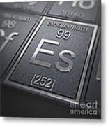 Einsteinium Chemical Element Metal Print