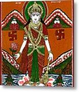 Ek Darshi Mata Vishnu Avatar Metal Print by Ashok Kumar
