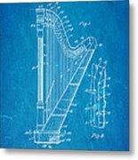 Ekman Harp Patent Art 1905 Blueprint Metal Print