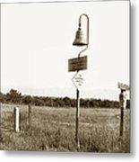 El Camino Real Mission Bell Near San Fernando Mission California 1906 Metal Print