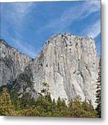 El Capitan And The Wall Of Granite Metal Print
