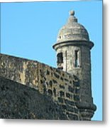 El Morro Parapet 1 Metal Print by David  Ortiz