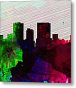 El Paseo City Skyline Metal Print