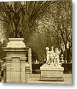 El Prado Boulevard Madrid Spain Metal Print