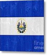 El Salvador Flag Metal Print