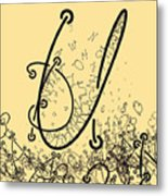 Elaborate Composition Of Letters A Metal Print