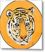 Elainas Tiger Metal Print