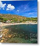 Elba Island - Beach In Seccheto  Metal Print