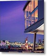 Elbe River With Waterfront Skyline Metal Print