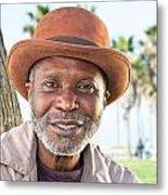 Elderly Black Man Smiling Metal Print
