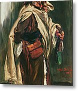 Elderly Moroccan Jew, 1867 Oil On Canvas Metal Print