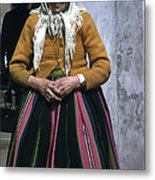 Elderly Woman Metal Print
