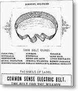 Electric Belt Ad Metal Print