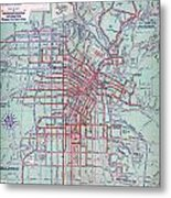Electric Car And Bus Routes In La  Metal Print